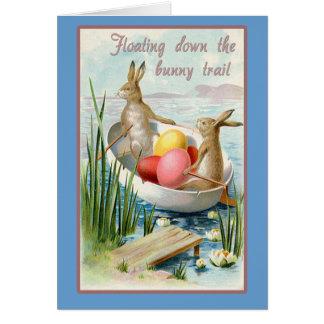 Easter Card with Vintage Illustration