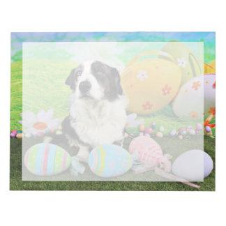 Easter - Cardigan Corgi - Teddy Notepad