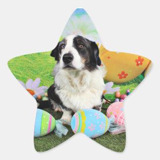 Easter - Cardigan Corgi - Teddy Star Sticker