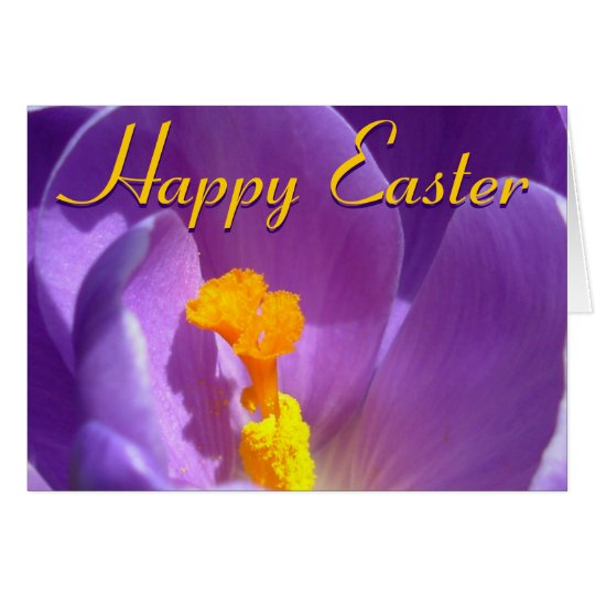 Easter Cards Crocus Flowers Custom Greeting Card