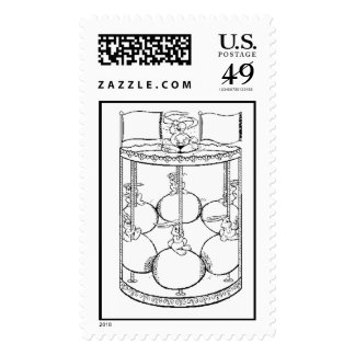 Easter Carousel Postage Stamps