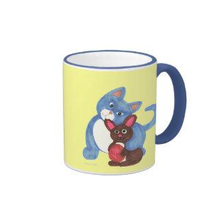 Easter Cat and Chocolate Bunny Mug