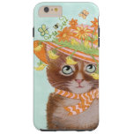Easter Cat in Easter Bonnet with Butterflies Tough iPhone 6 Plus Case
