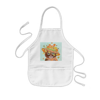 Easter Cat in Easter Bonnet with Butterflies Kids' Apron