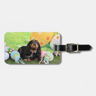 Easter - Cavalier King Charles Spaniel - Charlie Travel Bag Tags