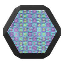 Easter Checkerboard Pattern Black Bluetooth Speaker