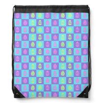 Easter Checkerboard Pattern Drawstring Bag