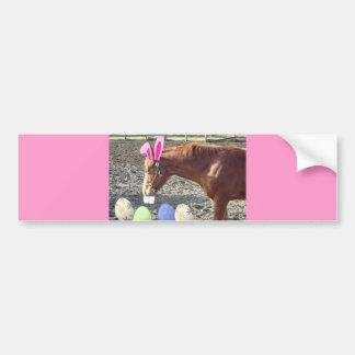 Easter Chestnut Horse Car Bumper Sticker