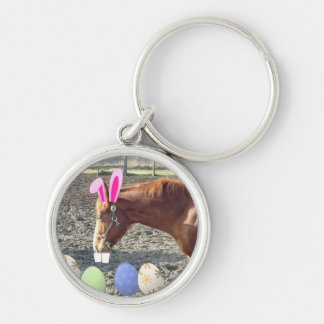 Easter Chestnut Horse Keychain