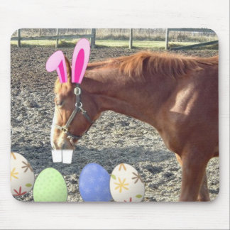 Easter Chestnut Horse Mouse Pad