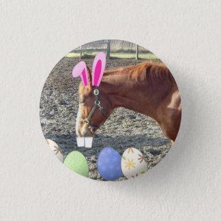 Easter Chestnut Horse Pinback Button