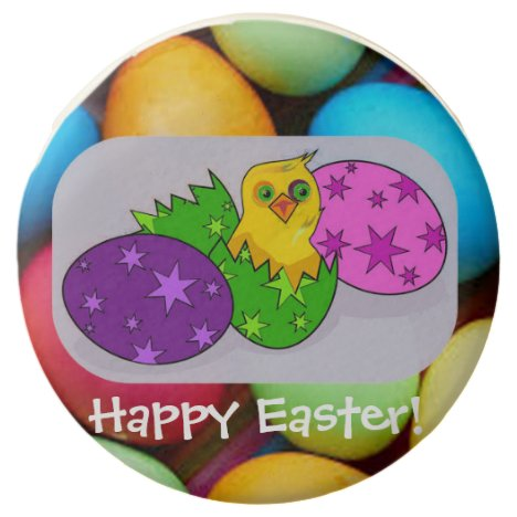 Easter chick and Easter eggs Chocolate Covered Oreo