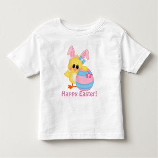 Easter chick and egg toddler girl t-shirt