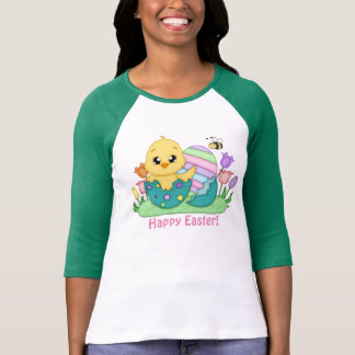 Easter chick and eggs Holiday t-shirt