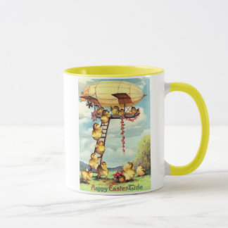 Easter Chick Blimp Zeppelin Flower Mug