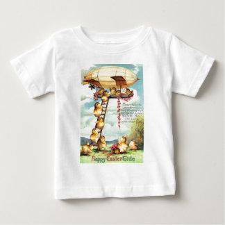 Easter Chick Blimp Zeppelin Flower T-shirt