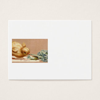 Easter Chick Blue Forget Me Not Business Card