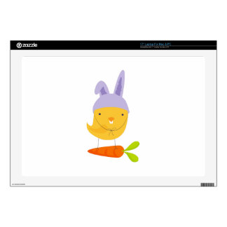 """Easter Chick Bunny 17"""" Laptop Skin"""