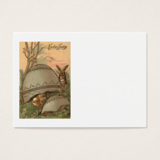 Easter Chick Bunny Colored Decorated Egg Business Card
