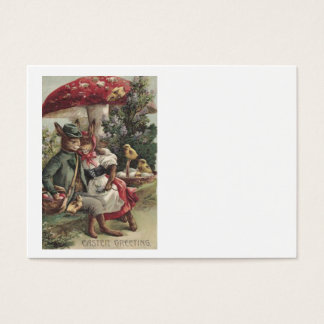 Easter Chick Bunny Couple Colored Egg Mushroom Business Card