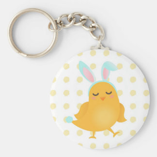 Easter Chick Bunny Keychain