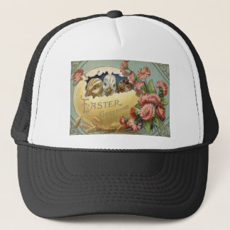Easter Chick Chrysanthemum Colored Egg Trucker Hat