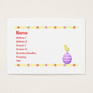 Easter Chick - Chubby Business Card