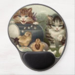 Easter Chick Colored Egg Kitten Cat Gel Mouse Pad