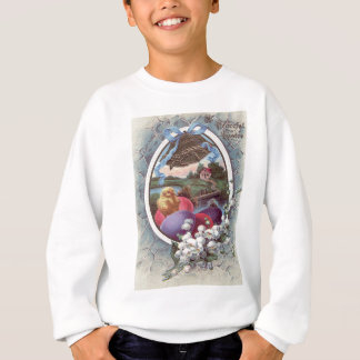 Easter Chick Colored Egg Lily of The Valley Sweatshirt