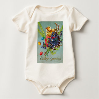 Easter Chick Colored Egg Purple Iris Baby Bodysuit