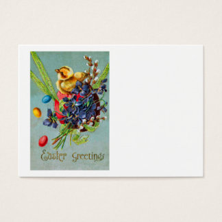 Easter Chick Colored Egg Purple Iris Business Card