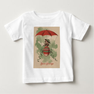 Easter Chick Colored Egg Umbrella Parachute Baby T-Shirt