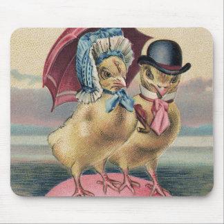 Easter Chick Colored Egg Umbrella Sea Mouse Pad