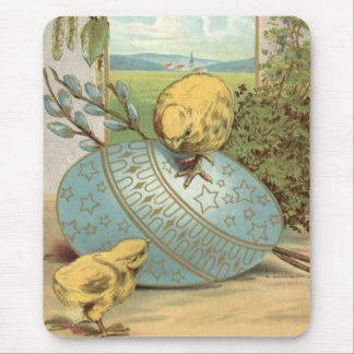 Easter Chick Colored Painted Decorated Egg Mouse Pad