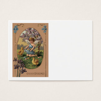 Easter Chick Colored Painted Egg Cherry Tree Business Card