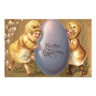 Easter Chick Costume Colored Painted Egg Art Photo