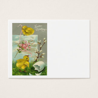 Easter Chick Cotton Pink Daisy Business Card
