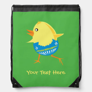 Easter Chick custom bag Drawstring Bags