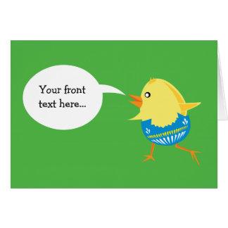 Easter Chick custom greeting card