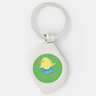 Easter Chick custom key chain