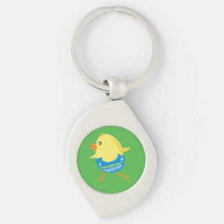 Easter Chick custom key chain