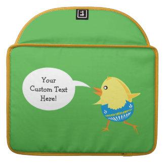 Easter Chick custom MacBook sleeves