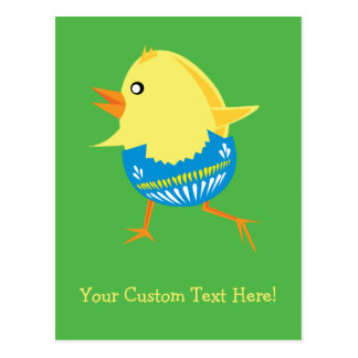 Easter Chick custom postcard