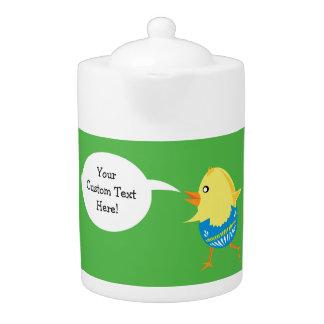 Easter Chick custom teapot