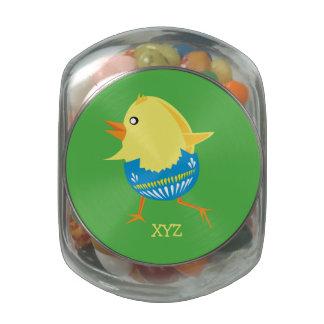 Easter Chick custom tins & jars Glass Jar