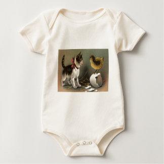 Easter Chick Egg Cat Kitten Baby Bodysuit