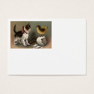 Easter Chick Egg Cat Kitten Business Card