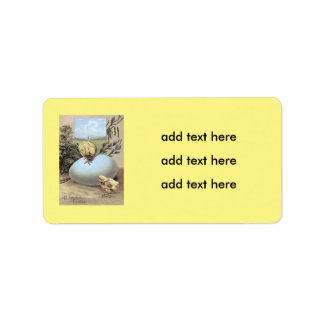Easter Chick Egg Cotton Label