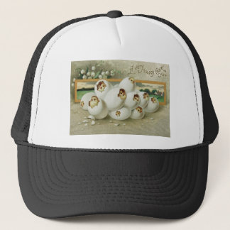 Easter Chick Egg Flower Hatching Trucker Hat
