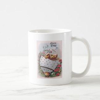 Easter Chick Egg Flowers Coffee Mug